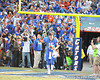 Florida senior quarterback Tim Tebow runs onto the field during the Senior Day ceremony before the Gators' 37-10 win against Florida State on Saturday, November 28, 2009 at Ben Hill Griffin Stadium in Gainesville, Fla. / Pool photo by Phil Sandlin