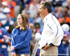 Florida head coach Urban Meyer watches during the Senior Day ceremony before the Gators' 37-10 win against Florida State on Saturday, November 28, 2009 at Ben Hill Griffin Stadium in Gainesville, Fla. / Gator Country photo by Tim Casey