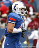 Florida redshirt freshman fullback T.J. Pridemore heads to the locker room before the Gators' 37-10 win against Florida State on Saturday, November 28, 2009 at Ben Hill Griffin Stadium in Gainesville, Fla. / Gator Country photo by Tim Casey