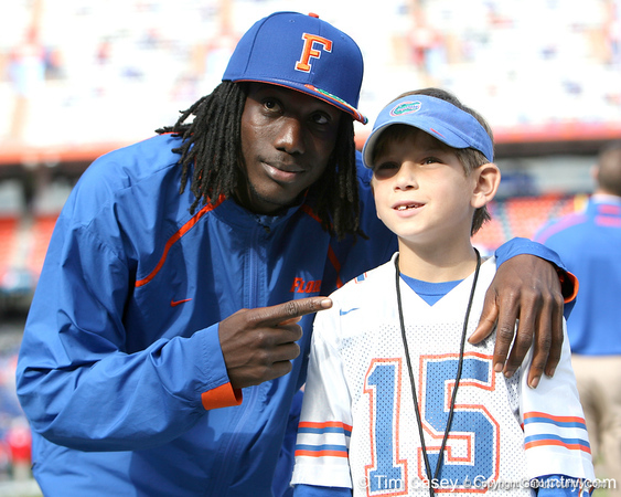 Pahokee senior wide receiver Chris Dunkley poses for a photo before  the Gators' 37-10 win against Florida State on Saturday, November 28, 2009 at Ben Hill Griffin Stadium in Gainesville, Fla. / Gator Country photo by Tim Casey