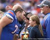 Florida redshirt junior offensive lineman Corey Hobbs meets with his family during the Senior Day ceremony before the Gators' 37-10 win against Florida State on Saturday, November 28, 2009 at Ben Hill Griffin Stadium in Gainesville, Fla. / Gator Country photo by Tim Casey
