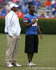 Florida redshirt senior safety Dorian Munroe watches warmups before the Gators' 37-10 win against Florida State on Saturday, November 28, 2009 at Ben Hill Griffin Stadium in Gainesville, Fla. / Gator Country photo by Tim Casey