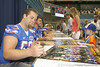 Florida redshirt senior long snapper John Fairbanks signs an autograph during the Gators' annual Fan Day on Sunday, August 15, 2010 at the Stephen C. O'Connell Center in Gainesville, Fla. / Gator Country photo by Tim Casey