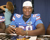Florida freshman defensive tackle Leon Orr poses for a photo during the Gators' annual Fan Day on Sunday, August 15, 2010 at the Stephen C. O'Connell Center in Gainesville, Fla. / Gator Country photo by Tim Casey