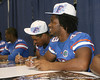Florida freshman linebacker Darrin Kitchens signs an autograph during the Gators' annual Fan Day on Sunday, August 15, 2010 at the Stephen C. O'Connell Center in Gainesville, Fla. / Gator Country photo by Tim Casey