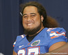 Florida redshirt freshman offensive lineman John Halapio poses for a photo during the Gators' annual Fan Day on Sunday, August 15, 2010 at the Stephen C. O'Connell Center in Gainesville, Fla. / Gator Country photo by Tim Casey