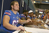 Florida freshman offensive lineman Tucker Blanton signs an autograph during the Gators' annual Fan Day on Sunday, August 15, 2010 at the Stephen C. O'Connell Center in Gainesville, Fla. / Gator Country photo by Tim Casey