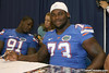 Florida freshman defensive tackle Sharrif Floyd poses for a photo during the Gators' annual Fan Day on Sunday, August 15, 2010 at the Stephen C. O'Connell Center in Gainesville, Fla. / Gator Country photo by Tim Casey