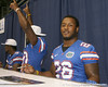 Florida senior linebacker Lorenzo Edwards poses for a photo during the Gators' annual Fan Day on Sunday, August 15, 2010 at the Stephen C. O'Connell Center in Gainesville, Fla. / Gator Country photo by Tim Casey