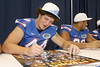 Florida senior defensive end Duke Lemmens signs an autograph during the Gators' annual Fan Day on Sunday, August 15, 2010 at the Stephen C. O'Connell Center in Gainesville, Fla. / Gator Country photo by Tim Casey