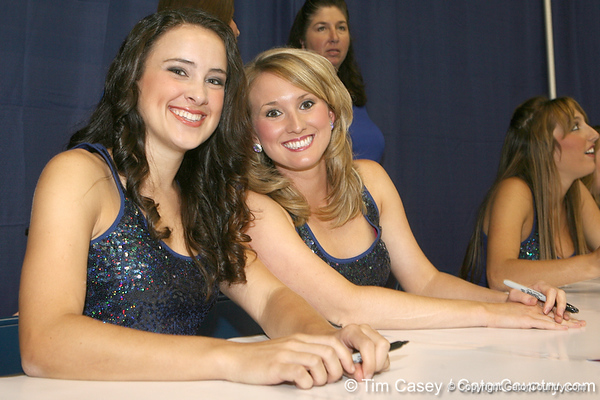 Florida Gatorettes pose for a photo during the Gators' annual Fan Day on Sunday, August 15, 2010 at the Stephen C. O'Connell Center in Gainesville, Fla. / Gator Country photo by Tim Casey