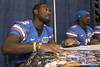 Florida redshirt junior wide receiver Chris Rainey signs an autograph during the Gators' annual Fan Day on Sunday, August 15, 2010 at the Stephen C. O'Connell Center in Gainesville, Fla. / Gator Country photo by Tim Casey
