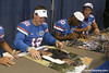 Florida redshirt junior quarterback John Brantley signs an autograph during the Gators' annual Fan Day on Sunday, August 15, 2010 at the Stephen C. O'Connell Center in Gainesville, Fla. / Gator Country photo by Tim Casey