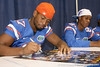 Florida redshirt sophomore wide receiver Josh Postell signs an autograph during the Gators' annual Fan Day on Sunday, August 15, 2010 at the Stephen C. O'Connell Center in Gainesville, Fla. / Gator Country photo by Tim Casey