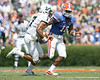 Florida redshirt senior linebacker A.J. Jones chases B.J. Daniels during the first half of the Gators' game against the South Florida Bulls on Saturday, September 11, 2010 at Ben Hill Griffin Stadium in Gainesville, Fla. / Gator Country photo by Tim Casey