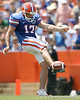 Florida senior punter Chas Henry punts during the first half of the Gators' game against the South Florida Bulls on Saturday, September 11, 2010 at Ben Hill Griffin Stadium in Gainesville, Fla. / Gator Country photo by Tim Casey