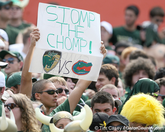 USF fans cheer during the first half of the Gators' game against the South Florida Bulls on Saturday, September 11, 2010 at Ben Hill Griffin Stadium in Gainesville, Fla. / Gator Country photo by Tim Casey