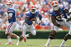 Florida junior running back Jeff Demps runs upfield during the first half of the Gators' game against the South Florida Bulls on Saturday, September 11, 2010 at Ben Hill Griffin Stadium in Gainesville, Fla. / Gator Country photo by Tim Casey