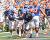 Florida sophomore running back Mike Gillislee celebrates after scoring a touchdown during the second half of the Gators' 38-14 win against the South Florida Bulls on Saturday, September 11, 2010 at Ben Hill Griffin Stadium in Gainesville, Fla. / Gator Country photo by Tim Casey
