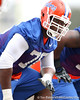 Florida redshirt senior offensive lineman Marcus Gilbert works out during the Gators' first day of spring practice on Wednesday, March 17, 2010 at the Sanders football practice fields in Gainesville, Fla. / Gator Country photo by Tim Casey