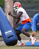 Florida redshirt sophomore defensive end Earl Okine works out during the Gators' first day of spring practice on Wednesday, March 17, 2010 at the Sanders football practice fields in Gainesville, Fla. / Gator Country photo by Tim Casey