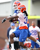 Florida senior cornerback Moses Jenkins breaks up a pass intended for Carl Moore during the Gators' first day of spring practice on Wednesday, March 17, 2010 at the Sanders football practice fields in Gainesville, Fla. / Gator Country photo by Tim Casey