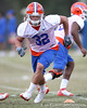 Florida redshirt sophomore linebacker Scott Peek works out during the Gators' first day of spring practice on Wednesday, March 17, 2010 at the Sanders football practice fields in Gainesville, Fla. / Gator Country photo by Tim Casey