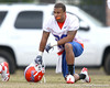Florida redshirt sophomore cornerback Jeremy Brown works out during the Gators' first day of spring practice on Wednesday, March 17, 2010 at the Sanders football practice fields in Gainesville, Fla. / Gator Country photo by Tim Casey