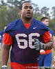 Florida redshirt junior offensive lineman James Wilson heads to the locker room during the Gators' first day of spring practice on Wednesday, March 17, 2010 at the Sanders football practice fields in Gainesville, Fla. / Gator Country photo by Tim Casey