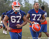Florida redshirt freshman offensive lineman John Halapio leaves the field during the Gators' first day of spring practice on Wednesday, March 17, 2010 at the Sanders football practice fields in Gainesville, Fla. / Gator Country photo by Tim Casey
