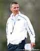 Florida head coach Urban Meyer coaches during the Gators' first day of spring practice on Wednesday, March 17, 2010 at the Sanders football practice fields in Gainesville, Fla. / Gator Country photo by Tim Casey