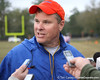 Florida assistant defensive coordinator/ safeties coach Chuck Heater talks to reporters during the Gators' first day of spring practice on Wednesday, March 17, 2010 at the Sanders football practice fields in Gainesville, Fla. / Gator Country photo by Tim Casey