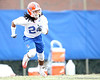 Florida sophomore cornerback Josh Evans works out during the Gators' first day of spring practice on Wednesday, March 17, 2010 at the Sanders football practice fields in Gainesville, Fla. / Gator Country photo by Tim Casey