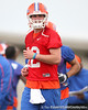 Florida redshirt junior quarterback John Brantley works out during the Gators' first day of spring practice on Wednesday, March 17, 2010 at the Sanders football practice fields in Gainesville, Fla. / Gator Country photo by Tim Casey