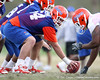 Florida redshirt freshman offensive lineman Kyle Koehne works out during the Gators' first day of spring practice on Wednesday, March 17, 2010 at the Sanders football practice fields in Gainesville, Fla. / Gator Country photo by Tim Casey