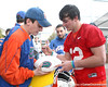 Florida redshirt junior quarterback John Brantley signs an autograph during the Gators' first day of spring practice on Wednesday, March 17, 2010 at the Sanders football practice fields in Gainesville, Fla. / Gator Country photo by Tim Casey