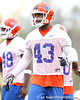 Florida redshirt freshman linebacker Jelani Jenkins works out during the Gators' first day of spring practice on Wednesday, March 17, 2010 at the Sanders football practice fields in Gainesville, Fla. / Gator Country photo by Tim Casey