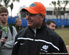 John Brantley talks to reporters during the Gators' first day of spring practice on Wednesday, March 17, 2010 at the Sanders football practice fields in Gainesville, Fla. / Gator Country photo by Tim Casey