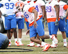 Florida junior defensive end William Green works out during the Gators' first day of spring practice on Wednesday, March 17, 2010 at the Sanders football practice fields in Gainesville, Fla. / Gator Country photo by Tim Casey