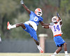 Florida redshirt junior wide receiver Deonte Thompson and freshman Jaylen Watkins work out during the Gators' first day of spring practice on Wednesday, March 17, 2010 at the Sanders football practice fields in Gainesville, Fla. / Gator Country photo by Tim Casey