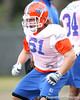 Florida redshirt senior offensive lineman Gary Beemer works out during the Gators' first day of spring practice on Wednesday, March 17, 2010 at the Sanders football practice fields in Gainesville, Fla. / Gator Country photo by Tim Casey