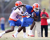 Florida redshirt sophomore wide receiver Omarius Hines works out during the Gators' first day of spring practice on Wednesday, March 17, 2010 at the Sanders football practice fields in Gainesville, Fla. / Gator Country photo by Tim Casey