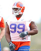 Florida redshirt sophomore defensive tackle Omar Hunter works out during the Gators' first day of spring practice on Wednesday, March 17, 2010 at the Sanders football practice fields in Gainesville, Fla. / Gator Country photo by Tim Casey