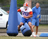 Florida redshirt junior offensive lineman Shawn Schmeider works out during the Gators' first day of spring practice on Wednesday, March 17, 2010 at the Sanders football practice fields in Gainesville, Fla. / Gator Country photo by Tim Casey