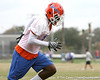 Florida sophomore safety Dee Finley works out during the Gators' first day of spring practice on Wednesday, March 17, 2010 at the Sanders football practice fields in Gainesville, Fla. / Gator Country photo by Tim Casey