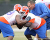 Florida redshirt junior defensive tackle Jaye Howard works out during the Gators' first day of spring practice on Wednesday, March 17, 2010 at the Sanders football practice fields in Gainesville, Fla. / Gator Country photo by Tim Casey
