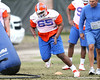 Florida redshirt sophomore defensive lineman Glen Watson works out during the Gators' first day of spring practice on Wednesday, March 17, 2010 at the Sanders football practice fields in Gainesville, Fla. / Gator Country photo by Tim Casey