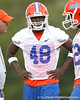 Florida freshman linebacker Neiron Ball works out during the Gators' first day of spring practice on Wednesday, March 17, 2010 at the Sanders football practice fields in Gainesville, Fla. / Gator Country photo by Tim Casey