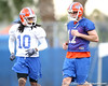 Florida junior safety Will Hill works out with Chas Henry during the Gators' first day of spring practice on Wednesday, March 17, 2010 at the Sanders football practice fields in Gainesville, Fla. / Gator Country photo by Tim Casey
