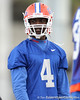 Florida redshirt freshman wide receiver Andre Debose looks on during the Gators' first day of spring practice on Wednesday, March 17, 2010 at the Sanders football practice fields in Gainesville, Fla. / Gator Country photo by Tim Casey